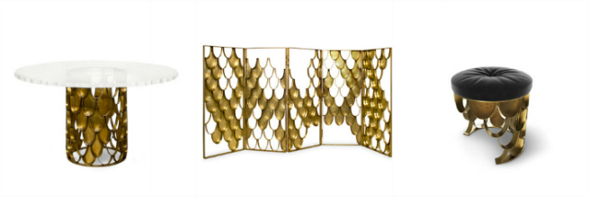 New Brass Console Table by BRABBU it's the new member of KOI Family 1