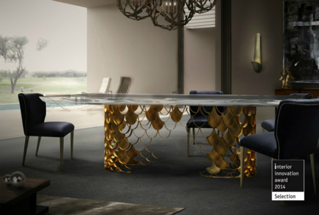 New Brass Console Table by BRABBU it's the new member of KOI Family 2
