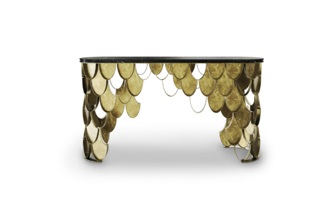 New Brass Console Table by BRABBU it's the new member of KOI Family 5