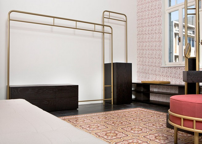 David Amar's Bialik furniture collection inspired by Art Deco floor tiles in a Tel Aviv home David Amar's Bialik furniture collection inspired by Art Deco floor tiles in a Tel Aviv homeDavid Amar   s Bialik furniture collection inspired by Art Deco floor tiles in a Tel Aviv home 1