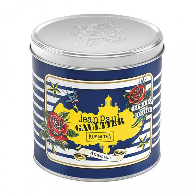 Kusmi tea's emblematic blends dressed up by Jean Paul Gaultier Kusmi tea's emblematic blends dressed up by Jean Paul GaultierKusmi teas emblematic blends dressed up by Jean Paul Gaultier