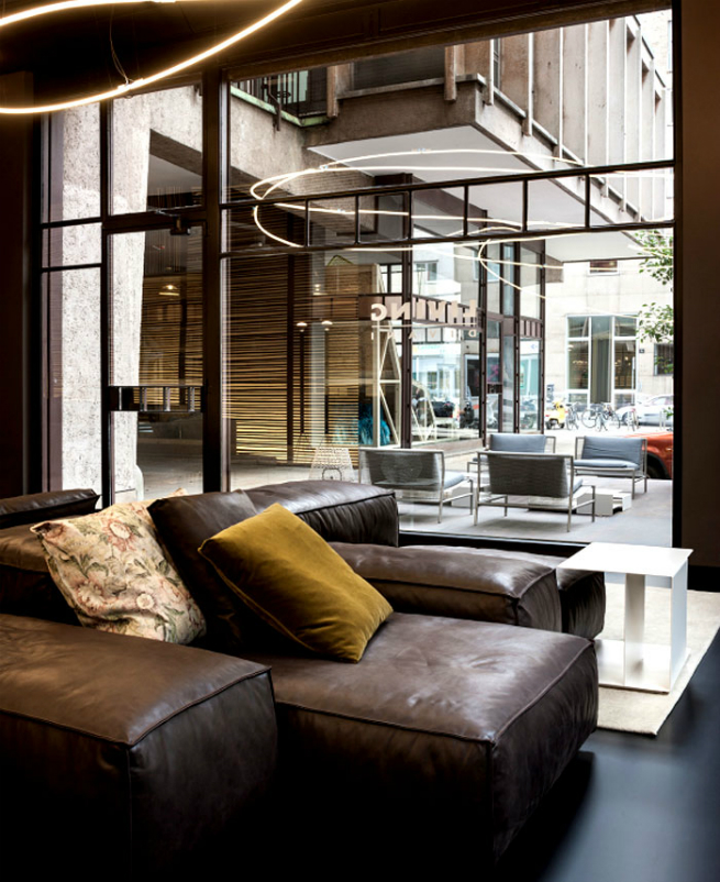living divani has a temporary contemporary store during