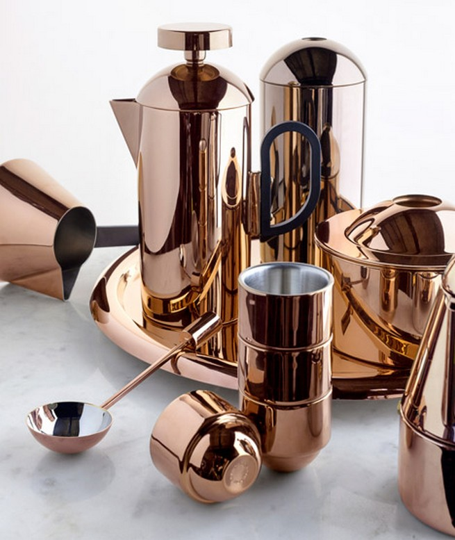 New copper coffee set designed by Tom Dixon  New copper coffee set designed by Tom DixonNew copper coffee set designed by Tom Dixon