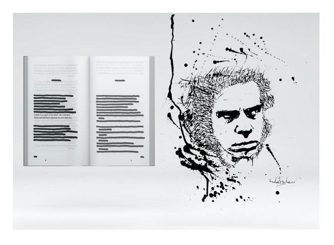Nicolas Ouchenir's 'portraits-signature' on show at Colette, Paris