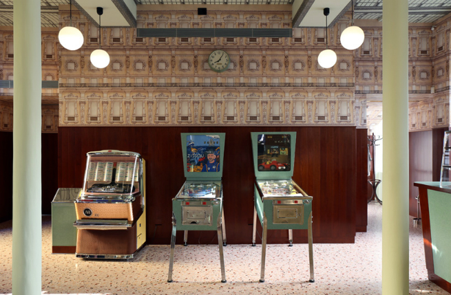 SThe director Wes Anderson designed the interior of a bar in Milan 2 The director Wes Anderson designed the interior of a bar in MilanSThe director Wes Anderson designed the interior of a bar in Milan 2