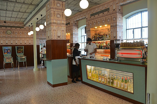 The director Wes Anderson designed the interior of a bar in Milan 3 The director Wes Anderson designed the interior of a bar in MilanThe director Wes Anderson designed the interior of a bar in Milan 3
