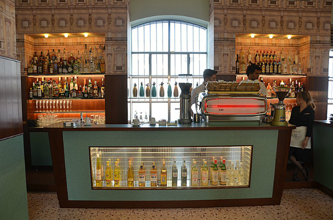 The director Wes Anderson designed the interior of a bar in Milan 4 The director Wes Anderson designed the interior of a bar in MilanThe director Wes Anderson designed the interior of a bar in Milan 4