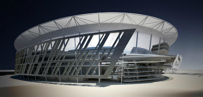 The new Rome Soccer Stadium is inpired by the Colosseum 1 The new Rome Soccer Stadium is inpired by the ColosseumThe new Rome Soccer Stadium is inpired by the Colosseum 1