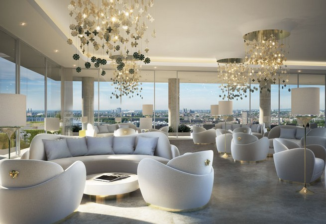Versace home furnishes penthouses in london news for Versace pool design