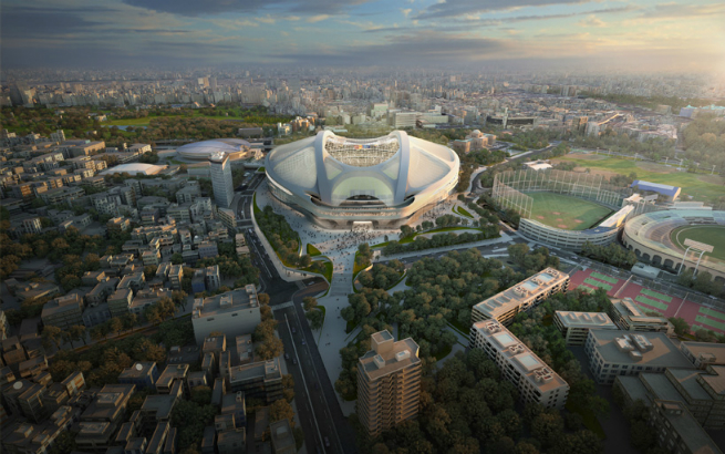 Images  Report of Zaha Hadid new Tokyo National Stadium 2 Images & Report of Zaha Hadid new Tokyo's National StadiumImages Report of Zaha Hadid new Tokyo National Stadium 2