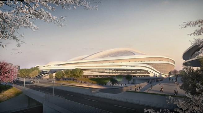 Images  Report of Zaha Hadid new Tokyo National Stadium 4 Images & Report of Zaha Hadid new Tokyo's National StadiumImages Report of Zaha Hadid new Tokyo National Stadium 4