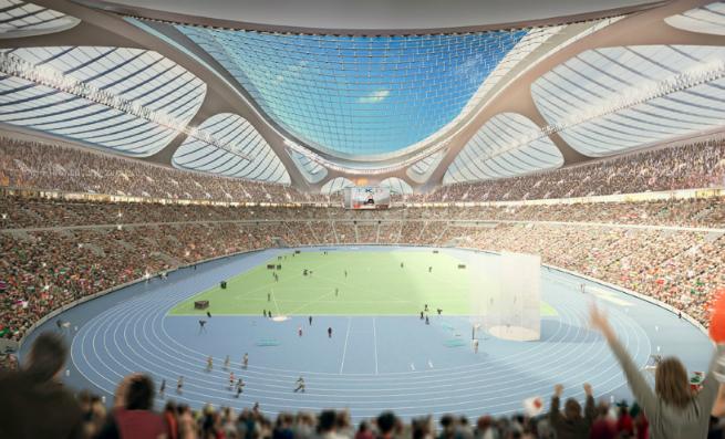 Images  Report of Zaha Hadid new Tokyo National Stadium 5 Images & Report of Zaha Hadid new Tokyo's National StadiumImages Report of Zaha Hadid new Tokyo National Stadium 5