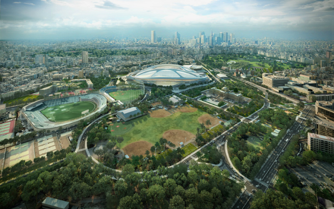 Images  Report of Zaha Hadid new Tokyo s National Stadium 1 Images & Report of Zaha Hadid new Tokyo's National StadiumImages Report of Zaha Hadid new Tokyo s National Stadium 1