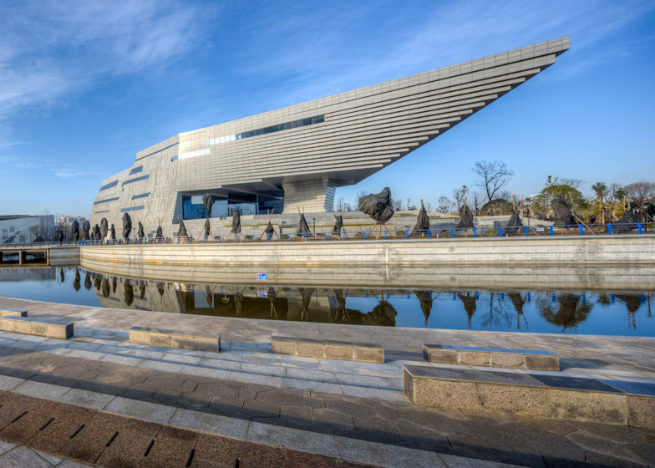 china museum atelier alter chinese firms hordor design group 6 A new museum in China features a roof shaped like an upside-down staircasechina museum atelier alter chinese firms hordor design group 6