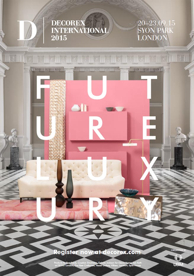 The decorex 2015 creative shoot on the future luxury for House interior design event