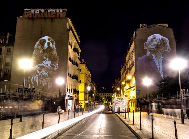 A safari of smartly-dressed wildlife on the streets of Paris projected by Julien Nonnon A safari of smartly-dressed wildlife on the streets of Paris projected by Julien NonnonA safari of smartly dressed wildlife on the streets of Paris projected by Julien Nonnon 9