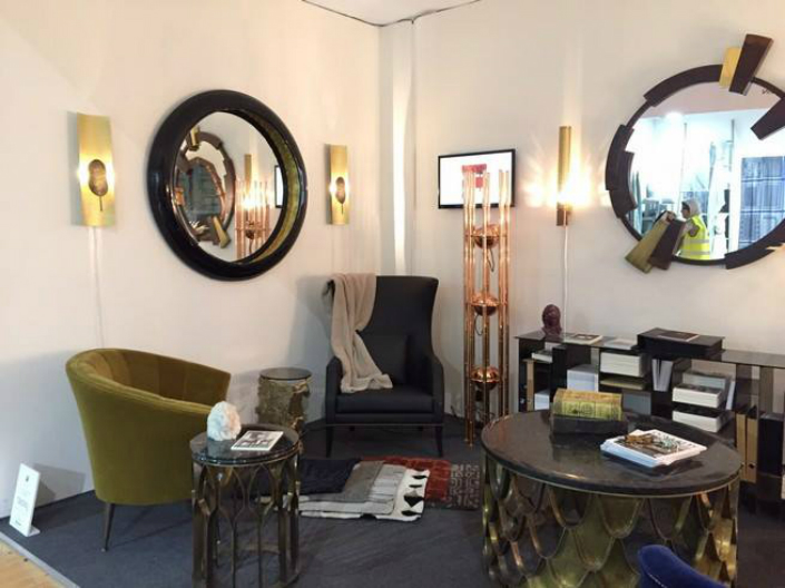 An exhibition of mid-century modern furniture and contemporary lighting at Decorex 2015 3 Between the Mid Century and the Contemporary Design at Decorex 2015An exhibition of mid century modern furniture and contemporary lighting at Decorex 2015 3