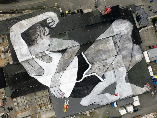 Ella  Pitr paint the biggest mural in the world for Nuart Festival Norway 3 Ella & Pitr paint the biggest mural in the world for Nuart Festival, NorwayElla Pitr paint the biggest mural in the world for Nuart Festival Norway 3