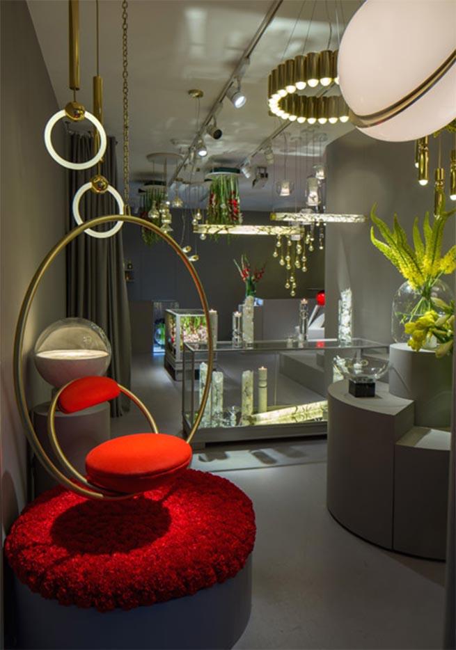 The elegant Lee Broom Flower Shop at London Design Festival 2015