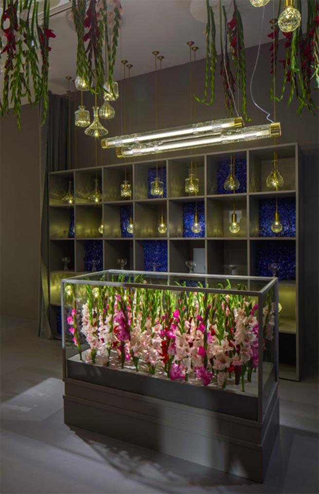 The elegant Lee Broom Flower Shop at London Design Festival 20157