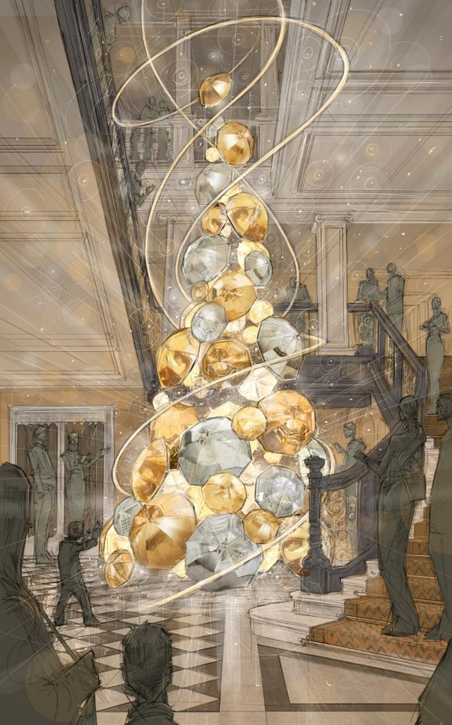 Burberry's designer Christopher Bailey will decorate Claridge's 2015 Christmas tree (3) Christopher BaileyClaridge's Christmas tree revealed by Christopher BaileyBurberrys designer Christopher Bailey will decorate Claridges 2015 Christmas tree 3