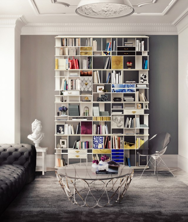 Places to visit in London a lifetime experience in this luxury apartment-coleccionista-custom-bookcase-shelf-02 Places to visit in London: a lifetime experience in this luxury apartmentPlaces to visit in London a lifetime experience in this luxury apartment coleccionista custom bookcase shelf 02