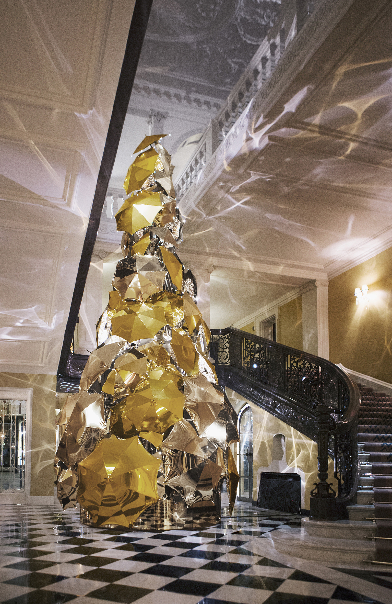 Claridges Christmas tree 2015 by christopher bailey Christopher BaileyClaridge's Christmas tree revealed by Christopher BaileyClaridges Christmas tree 2015 by christopher bailey