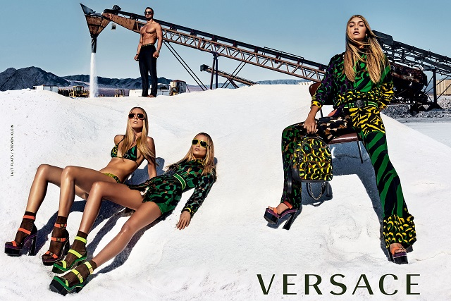 Donatella choose Gigi Hadid for Spring Summer 2016 Versace campaign Donatella choose Gigi Hadid for Spring Summer 2016 Versace campaigna1
