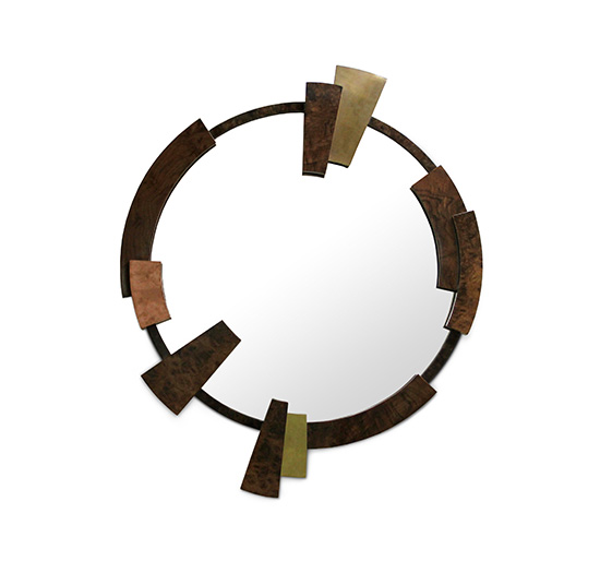 KAAMOS Round Mirror Modern Design by BRABBU gives a touch of strength and class to your home furniture.
