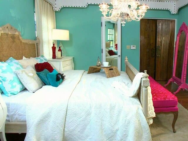 Bold Color Combinations  Bold Color Combinations Bold color turquoise hotpink