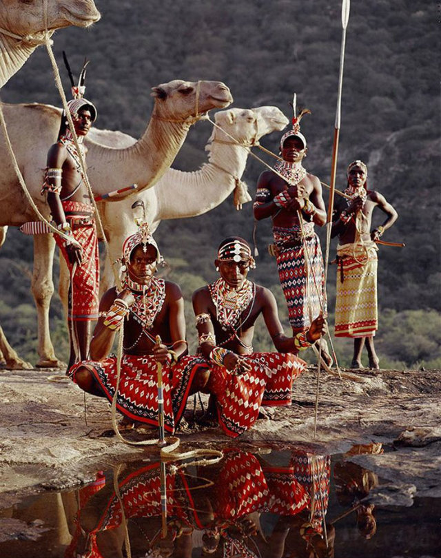 Design Inspiration from Indigenous Worlds  Design Inspiration from Indigenous Worlds Camels and men by the river in typical costumes