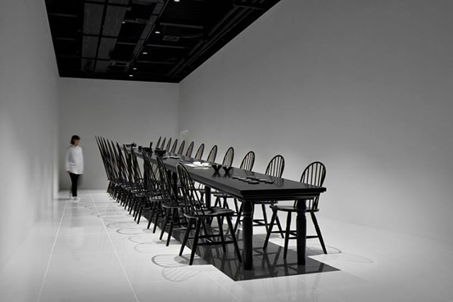 Dining room optical illusion by Nendo  Dining Room Optical Illusion by Nendo Dining room optical illusion by Nendo 2