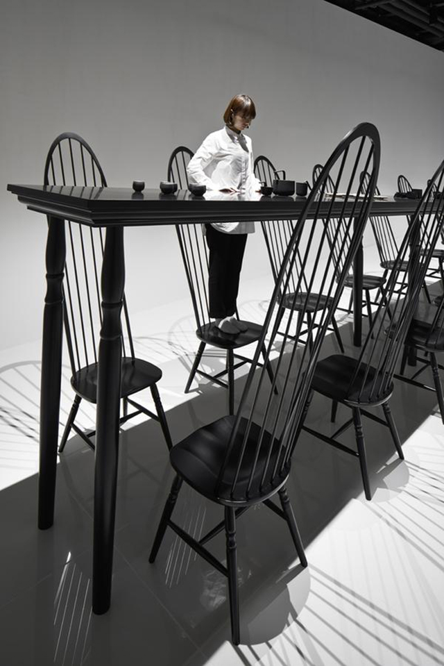 Dining room optical illusion by Nendo  Dining Room Optical Illusion by Nendo Dining room optical illusion by Nendo 3