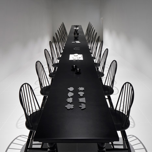 Dining room optical illusion by Nendo  Dining Room Optical Illusion by Nendo Dining room optical illusion by Nendo 4