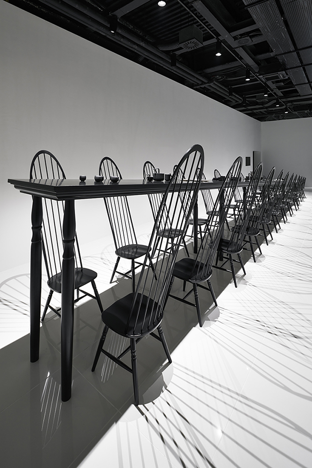 Dining room optical illusion by Nendo  Dining Room Optical Illusion by Nendo Dining room optical illusion by Nendo