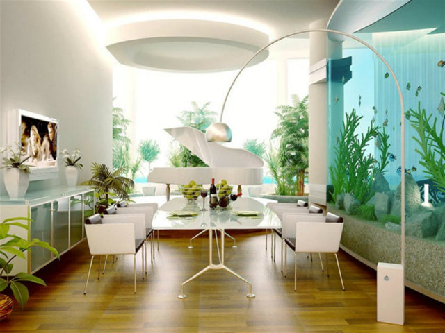 Simple Decorating Ways to Make your Dining Room Feel Fresh  Simple Decorating Ways to Make your Dining Room Feel Fresh Fresh Dining Rooms Aquarium