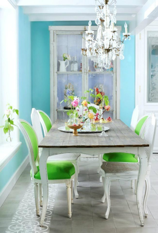 Simple Decorating Ways to Make your Dining Room Feel Fresh  Simple Decorating Ways to Make your Dining Room Feel Fresh Fresh Kitchen turquoise green