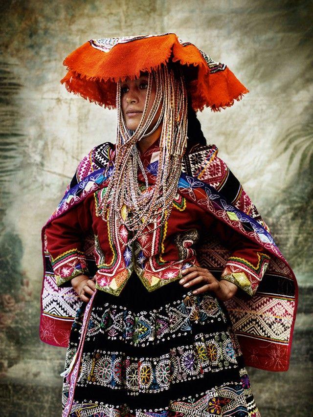 Design Inspiration from Indigenous Worlds  Design Inspiration from Indigenous Worlds Mario Testino Peruvian Woman