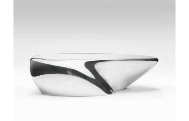 Zaha Hadid Expands Her Liquid Glacial Art Collection   Zaha Hadid Expands Her Liquid Glacial Art Collection ZH Stardune Bench Silver 1