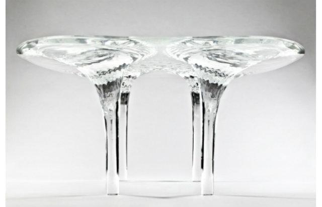 Zaha Hadid Expands Her Liquid Glacial Art Collection   Zaha Hadid Expands Her Liquid Glacial Art Collection ZH Table Liquid Glacial 1 1