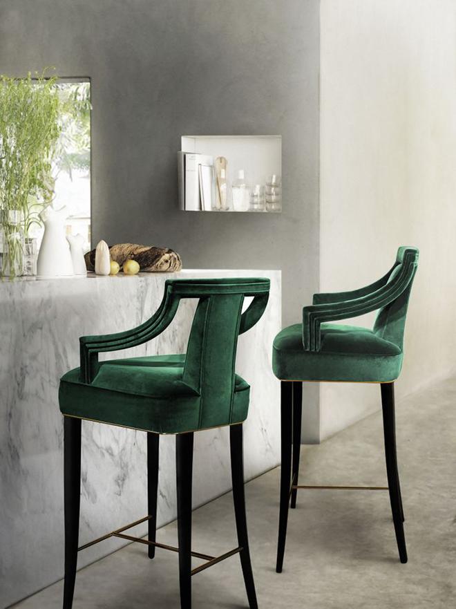 classic bar velvet airmchair