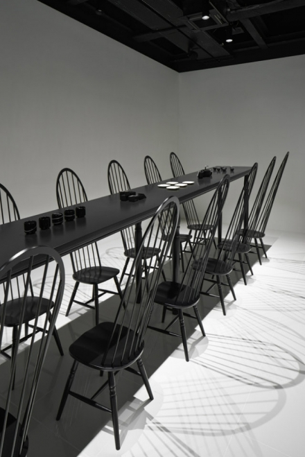 Dining Room Optical Illusion by Nendo
