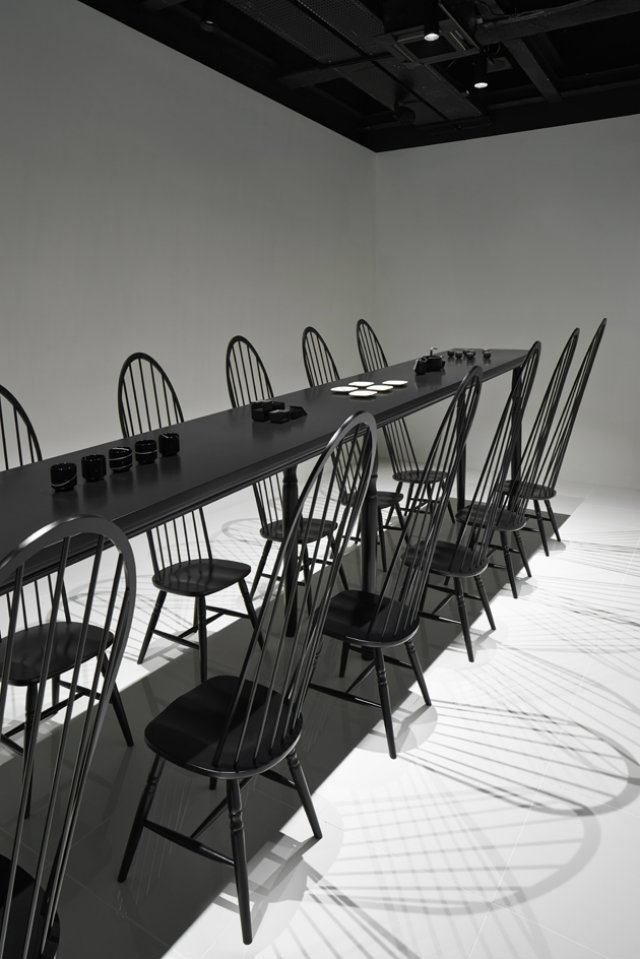 Dining Room Optical Illusion by Nendo  Dining Room Optical Illusion by Nendo colourful shadows Nando