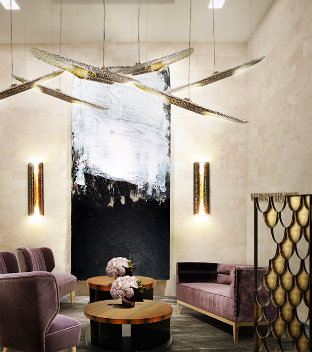 folding screen  Great ideas to divide spaces using folding screens folding screen 01