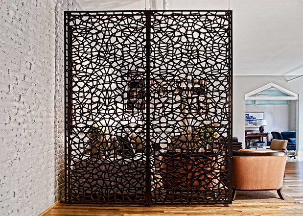 folding screen  Great ideas to divide spaces using folding screens folding screen 04
