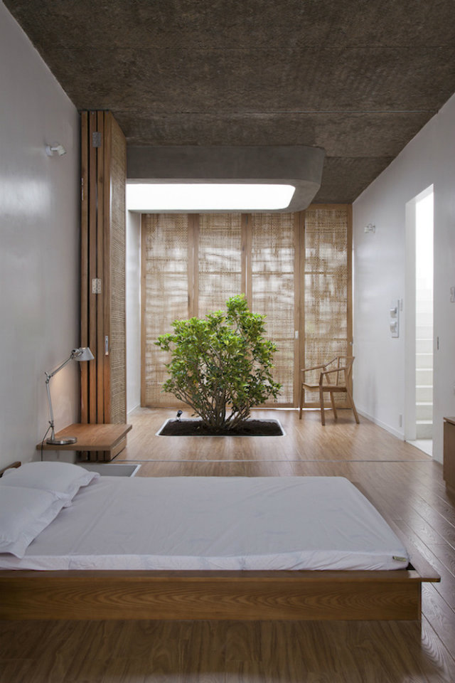 Inspirational Ideas To Decorate Your Bedroom Japanese Style  Inspirational Ideas To Decorate Your Bedroom Japanese Style japanese room all wood green plant