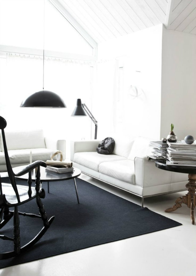 Sophisticate look for a clean and estethic living room  Sophisticated look for a clean and estethic living room light fresh livingroom blacklamp