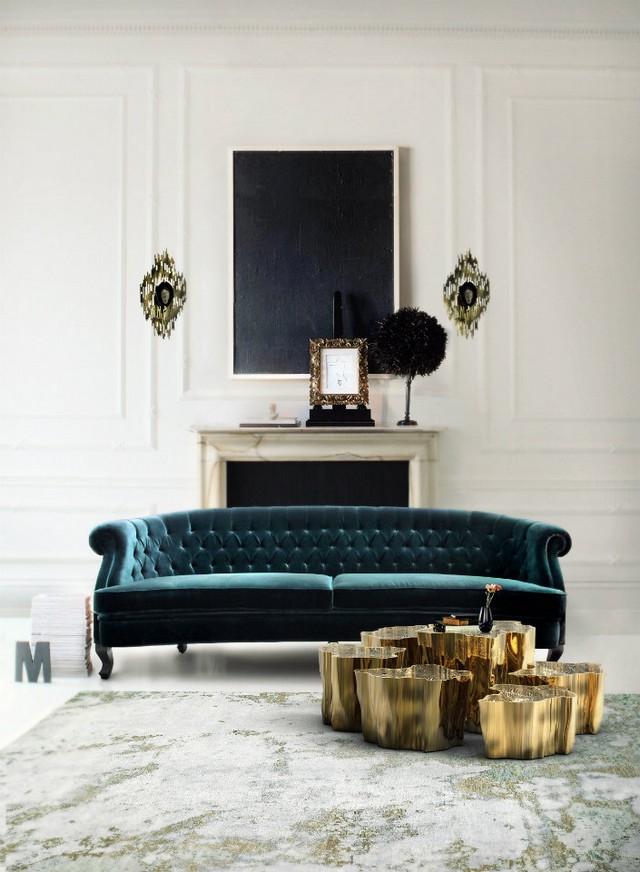 velvet 2  THE MASTER PIECE : modern living room set velvet 2