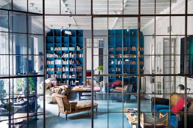 Bookshelves as an Exceptional Decor Detail  Bookshelves as an Exceptional Decor Detail Bookshelves interior design Blue livingroom detail