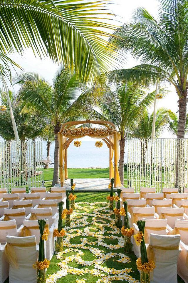 5 Unforgettable Wedding Destinations  5 Unforgettable Wedding Destinations Destination Wedding Caribbean yellow flowers